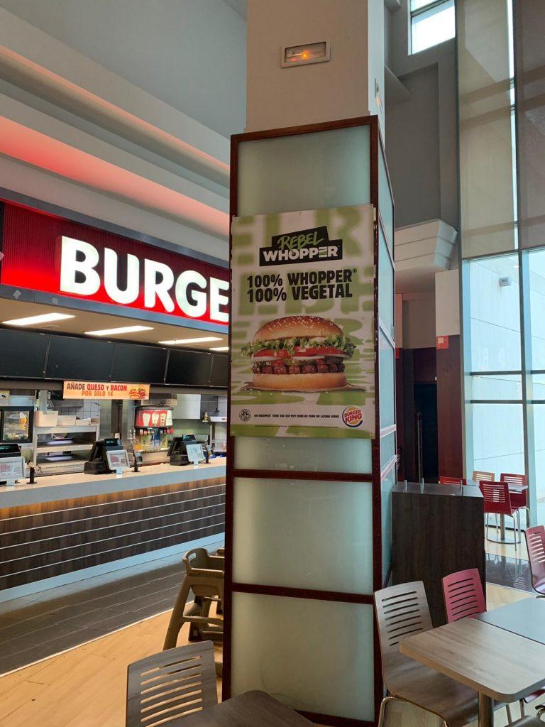 Burger King gran impresión, tintas ecológicas